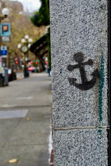 Graffiti found on 1st, Pioneer Square, Seattle