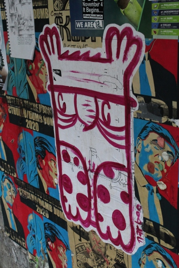 Art found in Post Alley, Seattle