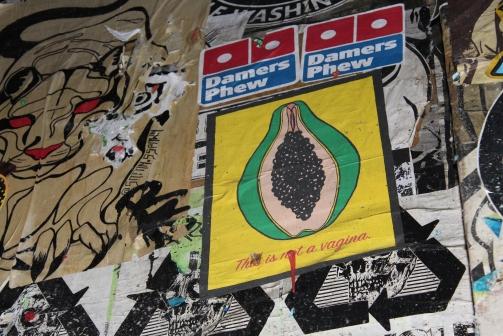 Papaya Vagina in Post Alley, Seattla
