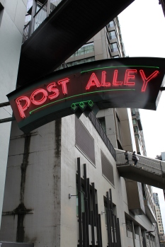 Neon sign for Seattle's Post Alley