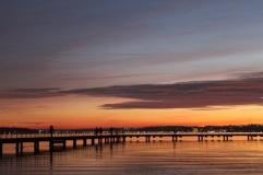 Juanita Beach dock at sunset during December 2017. Taken with Canon Rebel.