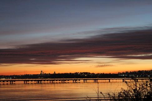 Reeds and sunset at Juanita Beach in December. Taken with Canon Rebel.