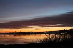 Sunset at Juanita Beach in December. Taken with Canon Rebel. December 2017.