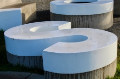 S from Roy McMakin- Love and Loss, 2005–2006 shot at Olympic Sculpture Park, December 2017