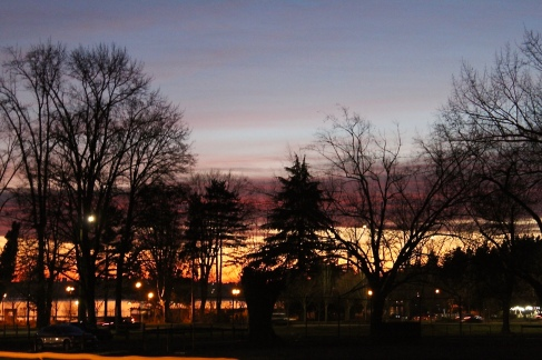 Juanita Beach Park- Sunset in December. Taken with Canon Rebel.