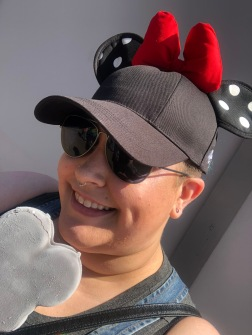 Mickey Mouse shaped ice cream bar in Disneyland