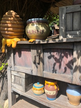 Hunny pots outside the Winnie the Pooh ride in Disneyland